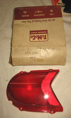 NOS 61 Mercury LH Tail Light Lens Wagon C1MY-13445-A