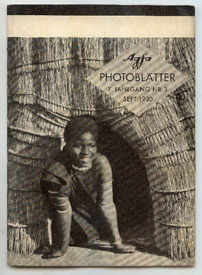 AGFA Photoblätter 7. Jahrg. Nr. 3, September 1930