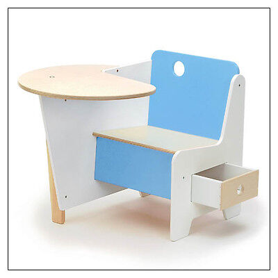 Doodle Drawer Desk, Blue, by Roberto Gil, Offi & Co.