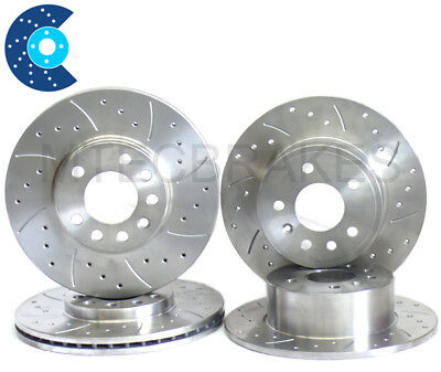 Saab 9-3 1.8 T Drilled Grooved Brake Discs Front Rear