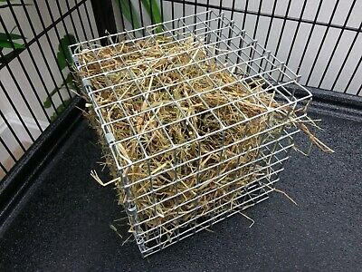 Giant Hay Cube Cage Feeder / Rack Toy for Large Breed Rabbits, Lops
