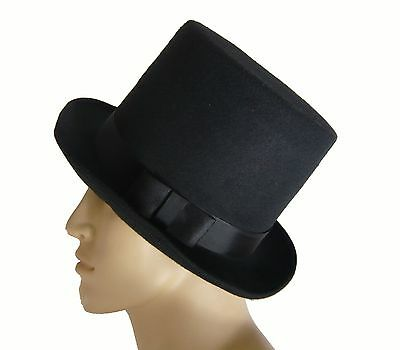 Deluxe Felt High Crown Costume Top Hat New  FREE USA SHIPPING 23734