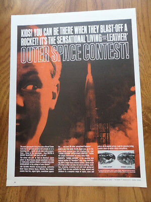 1961 Living Leather Formula X500 Ad Outer Space Contest