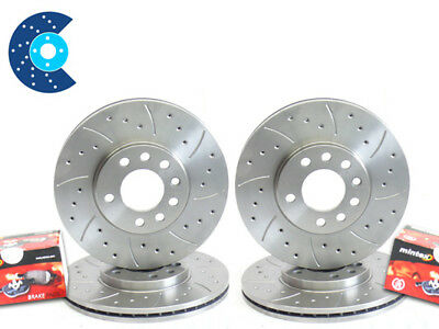 Impreza WRX GC8 Drilled Brake Discs Front Rear & Pads