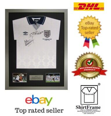 *2480+ SOLD* Frame For Any Signed Football Shirt and  2 photos Landscape