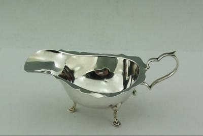 Antique Small Solid  Silver Sauce Boat 1923 Zimmerman 58 Gms