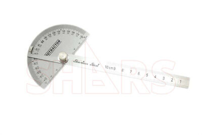 Shars Stainless Steel Depth Gage with Round Head Protractor New