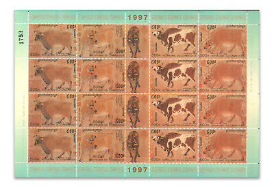Cambodia-1997-Cattle-Sheet Of 16 Mint Stamps