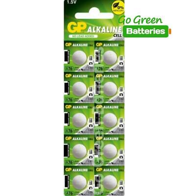 10 x GP LR44 1.5V Batteries A76  LR 44 AG13 357 L1154
