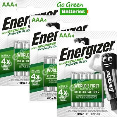 12x Energizer AAA Rechargeable Batteries 700 mAh NiMH LR03 HR03 Dect Phone Solar