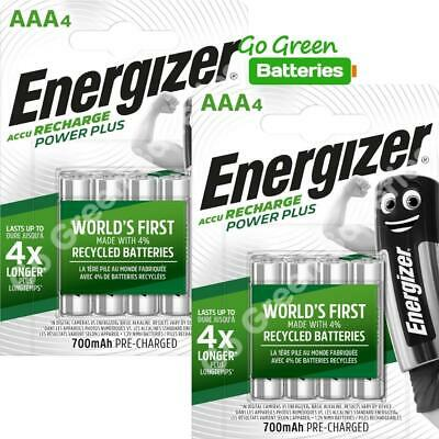 8 x Energizer AAA Rechargeable Batteries 700 mAh NiMH LR03 HR03 Dect Phone Solar