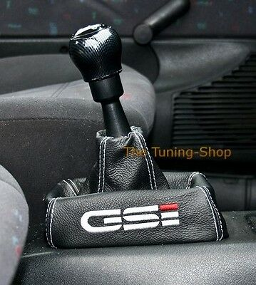 For Opel Vauxhall Vectra B Black Leather Gear Gaiter Custom Boot Embroidery Gsi