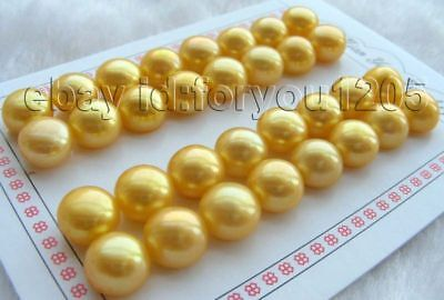 Wholesale 12pairs Natural 12mm Golden Pearl Earrings!