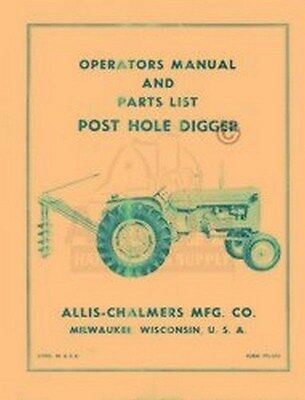 ALLIS CHALMERS WD45 Tractor Operators Parts Manual Owners