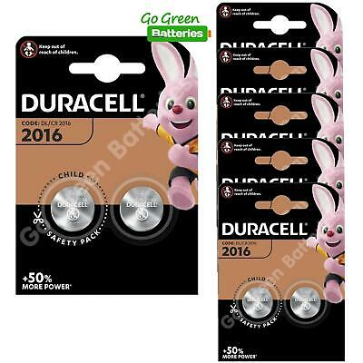 12 x Duracell CR2016 3V Lithium Coin Cell Battery 2016, DL2016, BR2016, SB-T11
