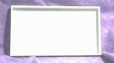 Lot Of 6 Stackable Tray 14 3/4 X 8 1/4  White