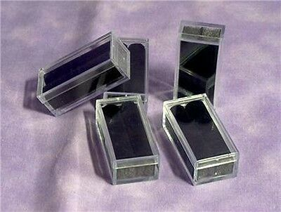 Tufted Rectangle Gem Boxes With Tags 100 Qty Black