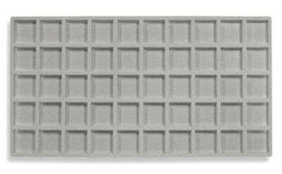 Lot Of 6  50 Compartment Tray Insert Flocked Gray