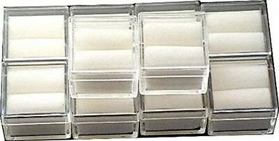 Tufted Square Clear Acrylic Gem Boxes 10 Qty