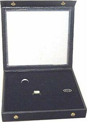 36 Ring Attached  Top Wood Jewelry Display Case