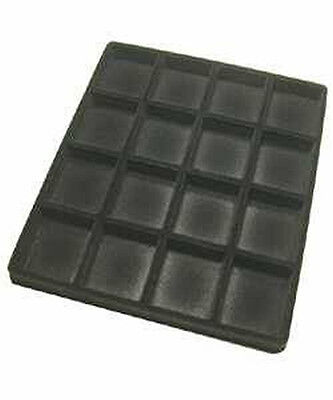 Black Flock Tray Insert For Half Tray 16 Slot