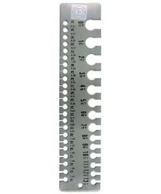 Rule Style Wire And Sheet Gauge