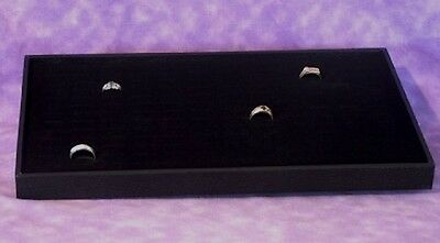 144 Slot Ring Wood Tray With Velvet Insert