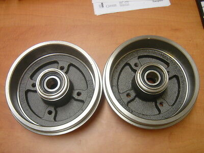 Citroen Zx Xsara Peugeot 306 309 Rear Brake Drums Wheel Bearings Fitted
