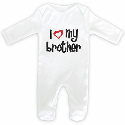 I LOVE MY BROTHER Baby SleepSuit Romper - 0-18months