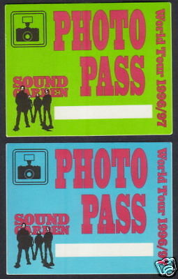 SOUNDGARDEN backstage pass Tour Satin Cloth set