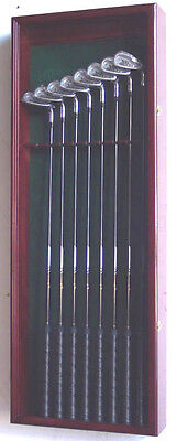 Golf Clubs Display Case Cabinet Rack Holder Shadow Box