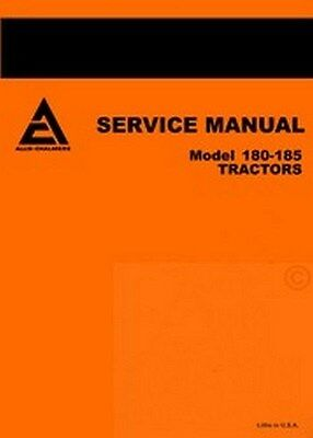 Allis Chalmers 180 185 Eighty Tractor Service Manual