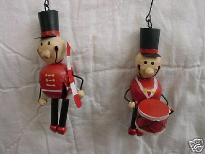 TOY SOLDIER Jingle Bell Ornaments ~ soldiers ~ set of 2