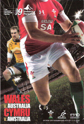 WALES v AUSTRALIA 2009 RUGBY PROGRAMME