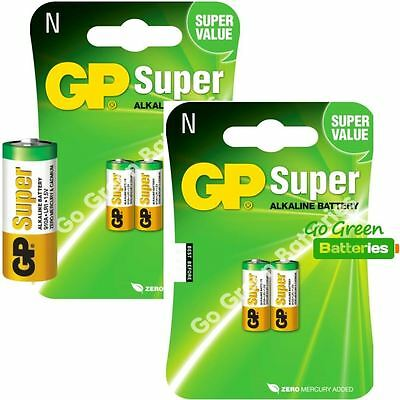 4 x GP LR1 1.5V Alkaline Batteries MN9100 N 910A E90 KN AM5 Bite Alarm Security