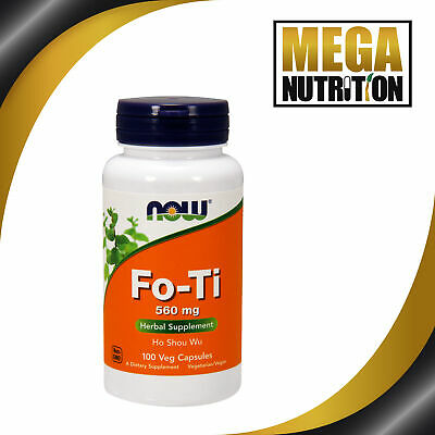 NOW Foods Fo-Ti Ho Shou Wu 560mg 100 Veg Capsules | Chinese Herbal Supplement