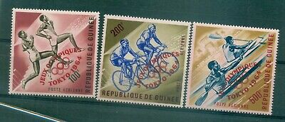 OLYMPIC GAMES TOKIO 1964 GUINEA 1964 Red printed