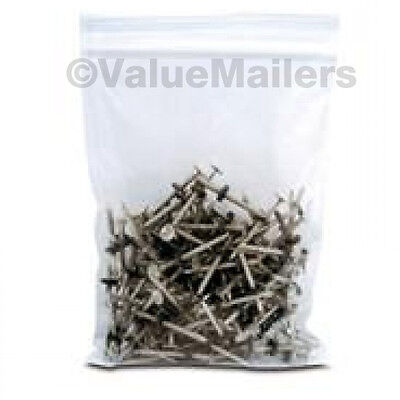 200 9x12 Clear Plastic Zipper Poly Locking Reclosable Bags 2 MiL 100.2