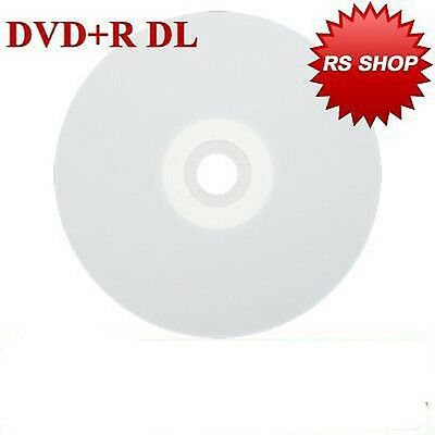 10 Aone Full Face Printable Dual Layer DVD+R DL  Discs