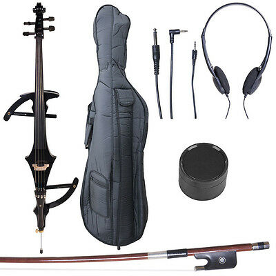 4/4 Electric Cello Full Size Ebony Style 4 ~Black