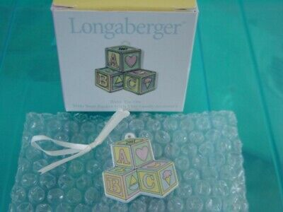 Longaberger 2001 Baby Pottery Tie-On NEW