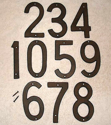 5 Inch Iron Metal HOUSE NUMBER 0-9 Street Address No. #