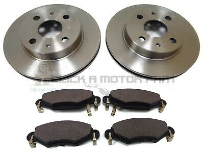 Toyota Yaris 1.0 1.3 1.4 1.5 99-04 Front 2 Brake Discs And Pads Set (Check Pads)