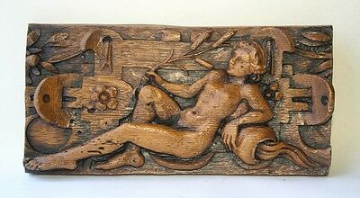 Medieval Church Pew Carving Ornament Plaque Unique Gift