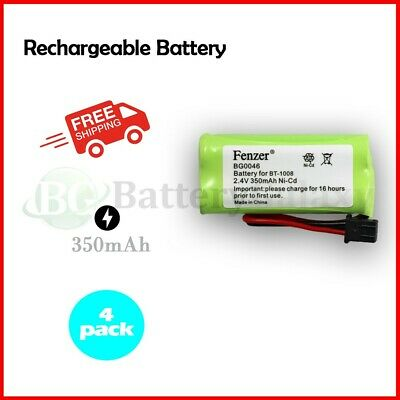 4 Cordless Home Phone Battery for Uniden BT-1016 BT1016