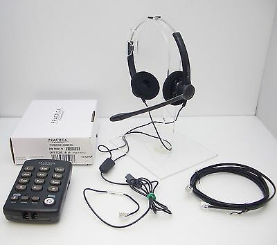 Plantronics SP12 Binaural Noise-Canceling Headset + T110 Dial Keypad with MUTE