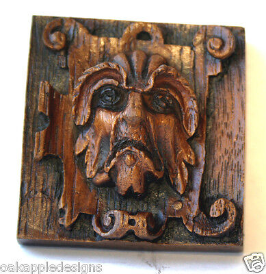Medieval Ornament Plaque Reproduction Cathedral Carving unique gift Gothic Oak