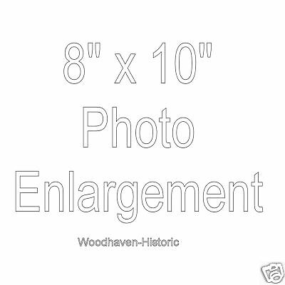 "8"" x 10"" PHOTO ENLARGEMENT OPTION - Please Read Description before ordering"
