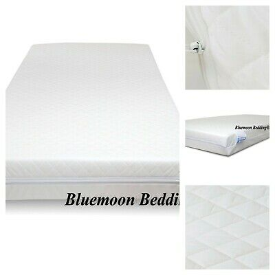 QUILTED COT BED MATTRESS BREATHABLE 120 x 60 x 13 CM
