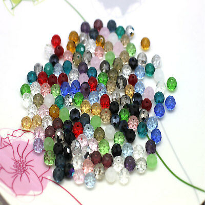150pcs Faceted Mixed Glass Crystal Bead 6mm new Design